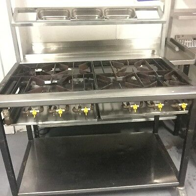 Commercial Gas Cooker - 6 burner heavy duty - CE APPROVED