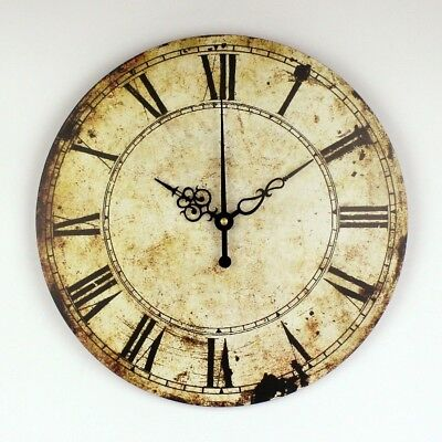 Retro Wall Decoration Watch Vintage Home Decoration Wall Clock With Roman Number