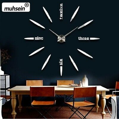130 cm Factory 2017 Wall Clock Acrylic+EVR+Metal Mirror Super Big Personalized D