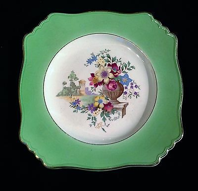 Royal Winton Grimwades Plate Green with flowers in a garden park
