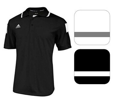 adidas Men's CLIMALITE Shockwave Sideline Polo Short Sleeve Coaching Sport Shirt