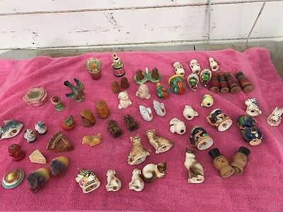 Rare Lot Of Vintage Salt and Pepper Shakers- Japan, Mexico, Falstaff