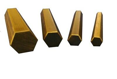 Short length CZ121 Brass Hex Bar 5, 6, 8 &10mm A/F - 50mm Long 1, 5 & Multi Pk