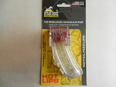Butler Creek Hot Lips 10 Round Magazine;  CLEAR;  10/22, 77/22, AMT;  HL-10CL