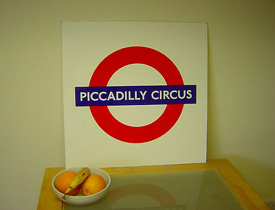 London Underground Enamel Piccadilly Circus Roundel Super Condition
