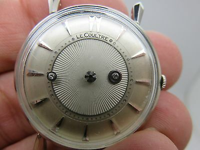 Rare Le Coultre Diamond Mystery Dial 14K White Gold Vintage Wrist Watch