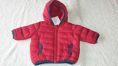 Next 9-12 months RED HOODED COAT BNWT New Padded Jacket Spring Autumn Baby Boys