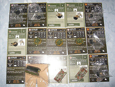 Axis & Allies Mini's Reinforcements, Poland & Belg Lot,15 pcs, Cavalry and tanks