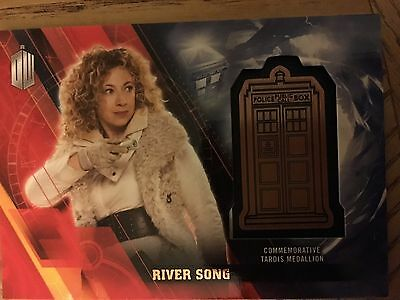 Topps Doctor Who Timeless 2016 Bronze Medallion Card River Song 049/150