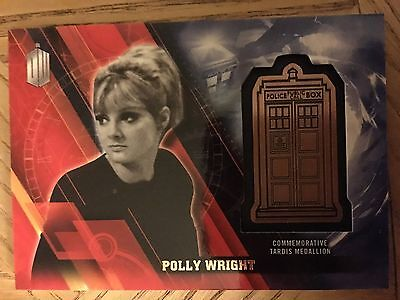 Topps Doctor Who Timeless 2016 Bronze Medallion Card Polly Wright 104/150