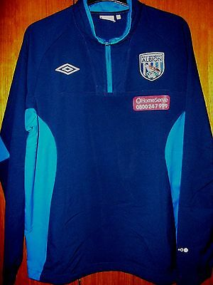 West Bromwich Albion Football Shirt Umbro Slipover Jacket / Top size L 42/44