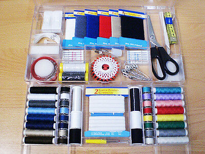 167 pieces Sewing boutique Sewing yarn Needles Coils Measurement band
