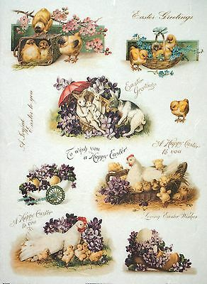Rice Paper for Decoupage Decopatch Scrapbook Craft Sheet Vintage Happy Easter 2