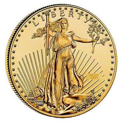 1 oz Gold American Eagle $50 Coin (Date Varies)