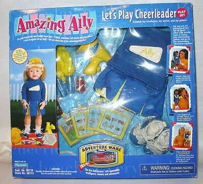 """Playmates AMAZING ALLY Alley Doll """"Let's Play Cheerleader"""" Adventure Ware"""