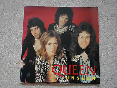 QUEEN UNSEEN book of band photographs colour and black and white FREDDIE MERCURY