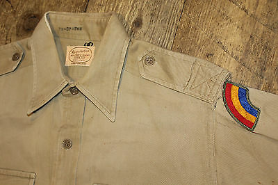 """Vintage Military """" BOLDWIN """" Brand Workwear Shirt with Patch"""