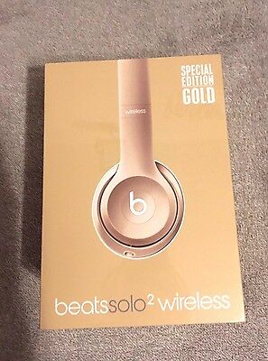 Beats By Dr Dre Solo 2 Wireless Gold Edition Oro NUOVE Sigillate