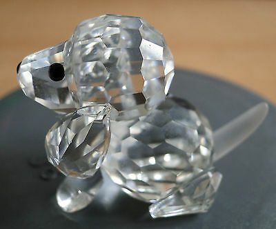Swarovski Crystal Beagle Sitting. Retired 2012. Box And Cert. Ex Cond