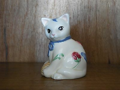Lenox ~ Poppies on Blue ~ Barnyard Collection ~ Cat ~ 2 hole Shakers ~ Salt ?