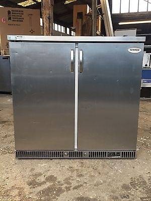 Bottle Beer Chiller Fridge Double Door Stainless Restaurant