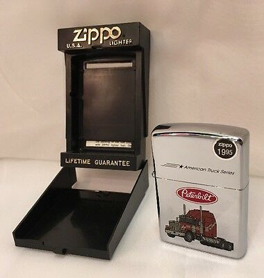 Zippo Lighter Sealed Peterbuilt 250AT 723 Semi Tractor Chrome A 1993