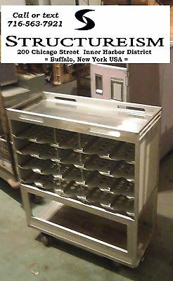 Airline Galley Cart RARE Cubicle WHITE - ALUMINUM Boeing 747 Bar Kitchen Office