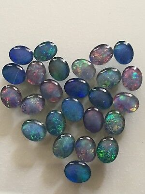 Australian Opal gemstones- Triplets - from Coober Pedy- 25x opals - lot for sale