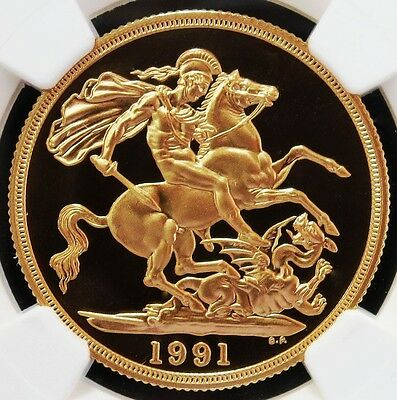 1991 Gold Great Britain 2 Pounds Coin Ngc Proof 69 Ultra Cameo