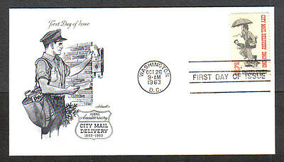 Us Fdc 1963 City Mail Delivery 5C Stamp Artmaster First Day Of Issue Cover