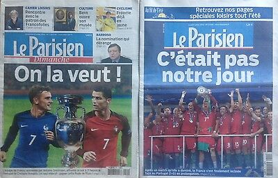 EURO 2016 FINAL 2x PROGRAMME PORTUGAL v FRANCE LE PARISIEN PREVIEW AND REVIEW