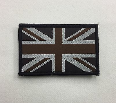 Union Jack Subdued Badge TRF, Military, Army, Sleeve, Arm, Patch, Hook Loop