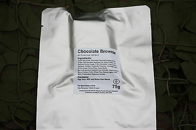 6 x CHOCOLATE BROWNIES BRITISH MILITARY MRE RATIONS READY TO EAT MEAL CAMPING