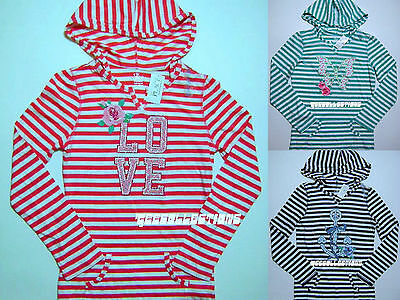 The CHILDREN'S PLACE Girl's Long Sleeve Striped Light Hoodie Size 10/12 & 14 NWT