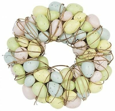 Easter Egg Wreath Twing Floral Table Decoration Speckled Eggs by Gisela Graham