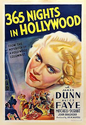 365 NIGHTS IN HOLLYWOOD (1934) One sheet stone litho poster on linen / brilliant