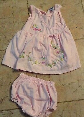 Little Girls Pink 2 Pc Outfit Dress &top Pink Size 24Months