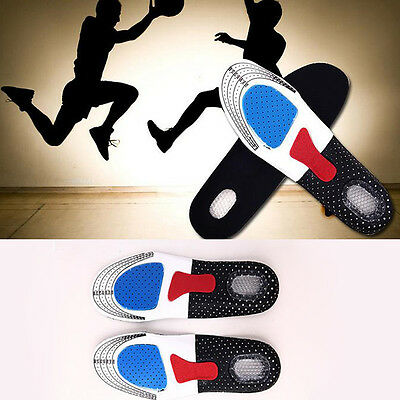 Men Women Gel Orthotic Sport Insoles Insert Shoe Pad Arch Support Cushion 1Pair