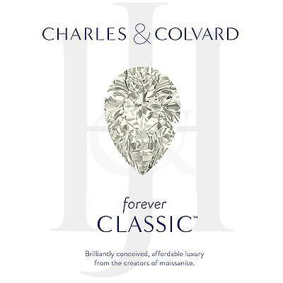 Forever Classic 2.24 ct Pear Charles Colvard Moissanite Stone 10x7mm Loose