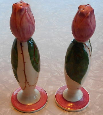Blue Ridge Rose Bud Tulip Bud Salt & Pepper Shakers