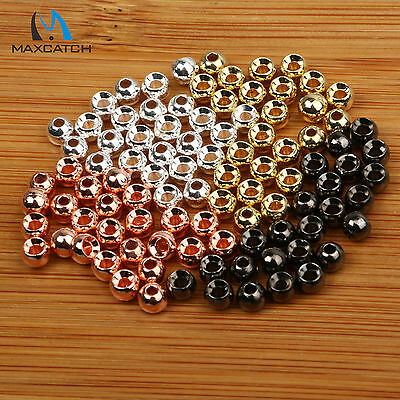 Maxcatch 4.0mm 100Pcs 4Color Tungsten Fly Tying Head Beads Nymph Head Ball Beads