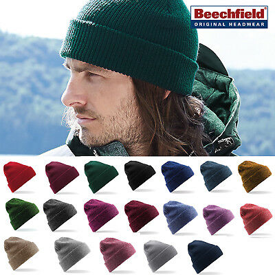 Beechfield Heritage Cuffed/Slouch Beanie - Casual & stylish winter hat men/women