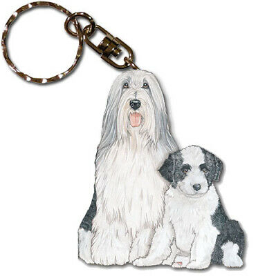 Bearded Collie Key Ring