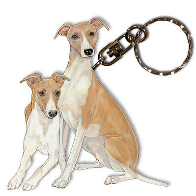 Whippet Key Ring