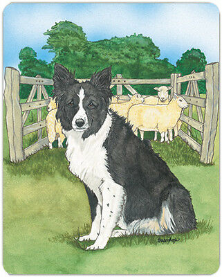 Border Collie Large Cutting Board