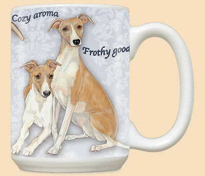 Whippet Ceramic Coffee Mug Tea Cup 15 oz
