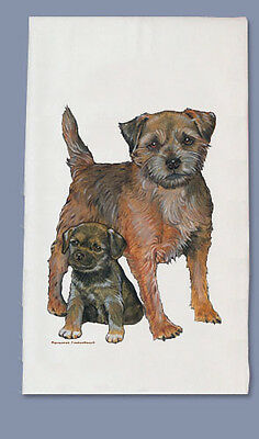 Border Terrier Dish Towel