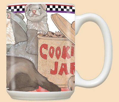 Ferret Ceramic Coffee Mug Tea Cup 15 oz