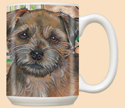 Border Terrier Ceramic Coffee Mug Tea Cup 15 oz
