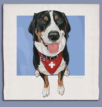 Greater Swiss Mountain Dog Dish Towel